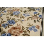 2.5' X 4.5' Beautiful All Over Floral Garden Rare Full Rose Needlepoint Area Rug