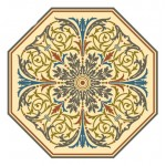 Octagonal Decorative Vines For Pillow